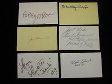 Lot of (6) Diff Football Hall of Famers Signed Index Cards - Ewbank, Alworth etc