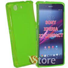 Cover Custodia Per Sony Xperia Z3 Compact Mini D5803 Verde Silicone + Pellicola