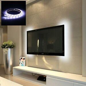 "Striscia LED retro TV Luce Bianco Naturale 70cm Atmosfera - ideale 55"" pollici"