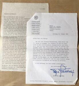 1982 Otto von Habsburg - Signierter Brief an Franz von Caucig