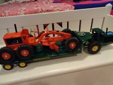 VINTAGE NYLINT LETOURNEAU LOW BOY TRACTOR TRAILER WITH NYLINT GRADER