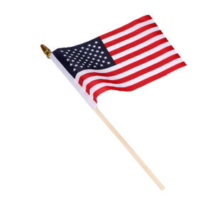 Small American Flags Small US Flags / Mini American Flag on Stick 4x6inch USA
