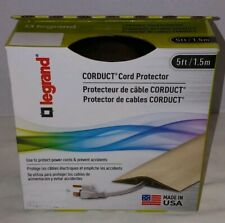 Legrand Corduct Wiremold On-Floor Cord Protector Brown 5' Coil Boxed