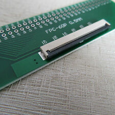 2x 60pin adaptador placa ffc-2.54 FPC pitch 0.5/1mm 0.5mm adpter PCB display cable
