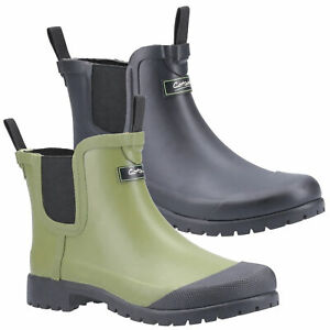 Womens Cotswold Blenheim Ankle Wellington Slip On Mid Wellie Boots Sizes 4 to 8