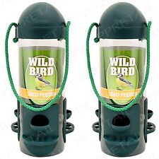 2x Hanging Bird Feeders Perch Garden Wild Food Hanger Squirrel Feeding Seed Nuts