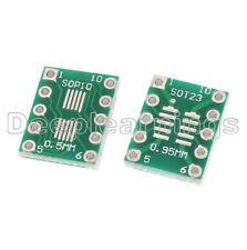 10PCS IC SOT23 SSOP10 MSOP10 UMAX to DIP 0.5/0.95mm Adapter PCB Board Converter