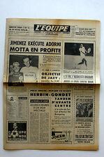 Journal l'Equipe n°6276 - 1966 - Juimenez Motta - Istvan Gulyas - Herbin Gondet