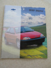 1999 Chevrolet Metro cars advertising booklet - Chev