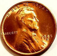 1945-S, Lincoln Wheat Cent Penny BU Gorgeos, CH, GEM Nice Luster From OBW Roll