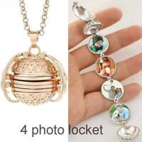 Multi-layer Locket Pendant Necklaces Can Put Photos Open Close Fashion Jewelry C