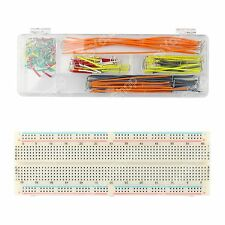 830 Punto Soldadura Pcb Breadboard Protoboard Mb102+140Pcs Jumper Cable Arduino