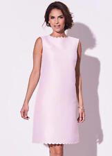 💖 Ladies Kaliko Pale Pink Scalloped Edge Dress Summer, Wedding, Races Size 14