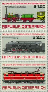 EBS Austria 1977 - 140 years of Austrian Railways - ANK 1572-1574 MNH**