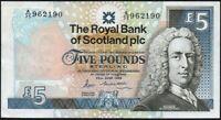1988 ROYAL BANK OF SCOTLAND PLC £5 BANKNOTE * A/35 962190 * VF-gVF *