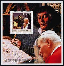 St Thomas & Principe 1448c s/s MNH Pope John Paul II, Copernicus