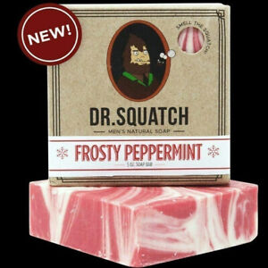 Dr. SQUATCH ~  FROSTY PEPPERMINT ~  NATURAL SOAP BAR ~  5 OZ.  FAST  SHIP !