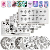 BORN PRETTY Nail Art Stamping Plates  Leaves Nail Art Stamp Image Plates