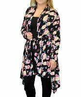 CANARI Women Plus Size Shawl Collar Cardigan Sweater Jacket Coat