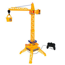 Kid Remote Control RC Tower Crane Toy - 4 Channel Crane Lift & 360° Rotation