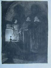 JEAN PAUL LAURENS-GRAVURE SUR CHINE-1/10-PEINTRE POMPIER-HISTOIRE-1885-