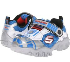 Toddler Skechers StarWars Astromech Lights 97022N Silver Blue 100% Authentic New