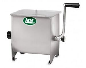 """NEW LEM Products 1734 Stainless Steel 50lb 14"""" x 11"""" x 14"""" Meat Mixer"""