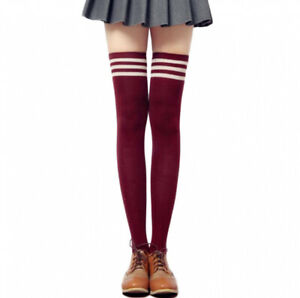 Girl Cable Knit Extra Long Boot Socks Over Knee Thigh High School Girl Stockings