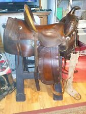 Vintage /Collectors of Americana Western high back seat Saddle late 1800's.