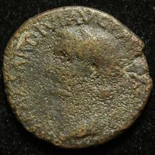 Tiberius AE as, rev. winged caduceus, Rome mint 35-36AD - RIC 59