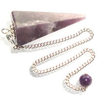 Lepidolite Point Dowsing Pendulum Enhances Self Love Patience and Optimism