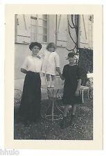 C810 Photographie originale ancienne 1910 famille femme enfant jardin fashion