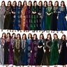 Dubai Women Abaya Velvet Embroidery Long Maxi Dress Muslim Kaftan Cocktail Gown