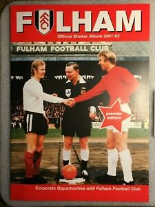 Fulham Corporate Official Sticker Album 2001/2002 with Sealed Stickers