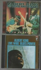 2 CD Lot - Albert King - Live Wire Blues Power - In Session w/Stevie Ray Vaughan
