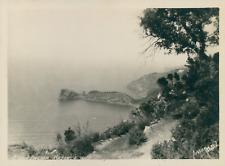 KK Bergen, Espagne, Majorca, Palma, vue de la côte, ca.1925, Vintage silver prin