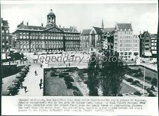 1940 Royal Palace of Holland in Amsterdam Original Wirephoto