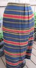 Chaus Skirt Plus Long Woman Multi color Striped Lined Polyester Size 20