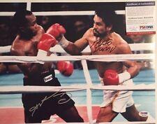 Sugar Ray Leonard and Roberto Duran Autographed 11x14 Boxing Photo PSA/DNA COA
