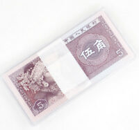100 Pcs China Banknotes 5 Jiao Paper Money Collection UNC Have Protective Shell