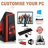 Cheap Custom Gaming PC Intel Core i7 Win10 GTX1650 16GB RAM 128GB SSD 1TB HDD