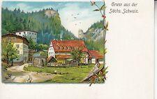 Postkarte - Sächs. Schweiz / Waltersdorfer Mühle