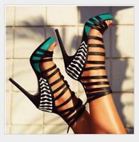 Women Strappy High Heels Platform Sandals Peep Toe Stiletto Sexy Nightclub Shoes