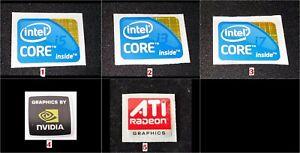 Laptop Notebook stickers Intel inside Core i3 i5 i7 , Nvidia , ATI - $3.99 each