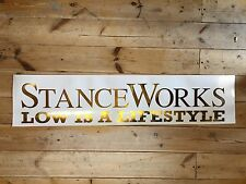 Stance Works Vinyl Car Sticker Gold Chrome 100cm XXL Size
