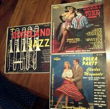 3 pc Lp Record Mix Honky Tonk Knuckles O' Toole Polka Party Magnante Dixieland