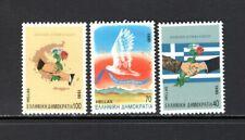 Greece 1990 FLAG, HANDSHAKE, DOVE, RIBBON, MAP, GIFT FLOWERS MNH Scott 1680-82