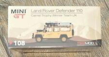 MINIGT LAND ROVER DEFENDER 110 CAMEL TROPHY WINNER TEAM UK 1/64 TSM MINI GT MISB