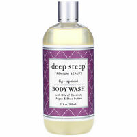 Deep Steep Argan Oil Body Wash Fig Apricot 17 fl oz 502 ml Cruelty-Free,
