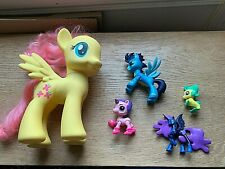 5 x My Little Pony type horses/unicorn - all different sizes in good condition